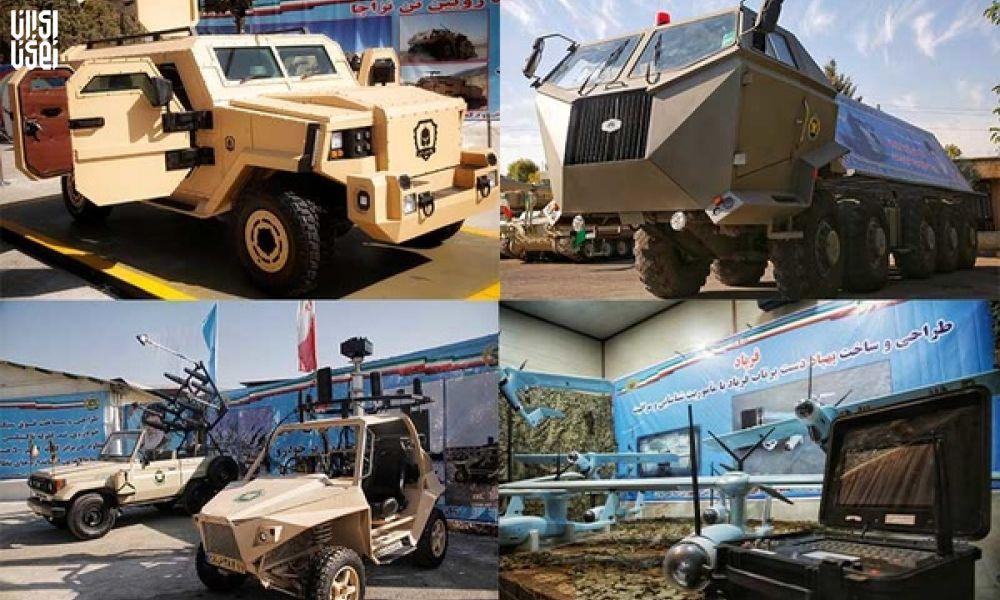 رونمایی از خودرو زرهی رویین تن و 4 دستاورد دیگر نیروی زمینی ارتش