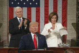 اتفاقات در سخنرانی ترامپ در کنگره آمریکا