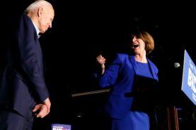 ايمی کلوبوچار به نفع جو بایدن از رقابتهای انتخاباتی کنار رفت