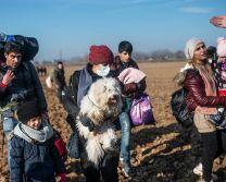 پناهجویان در مرز ترکیه با یونان