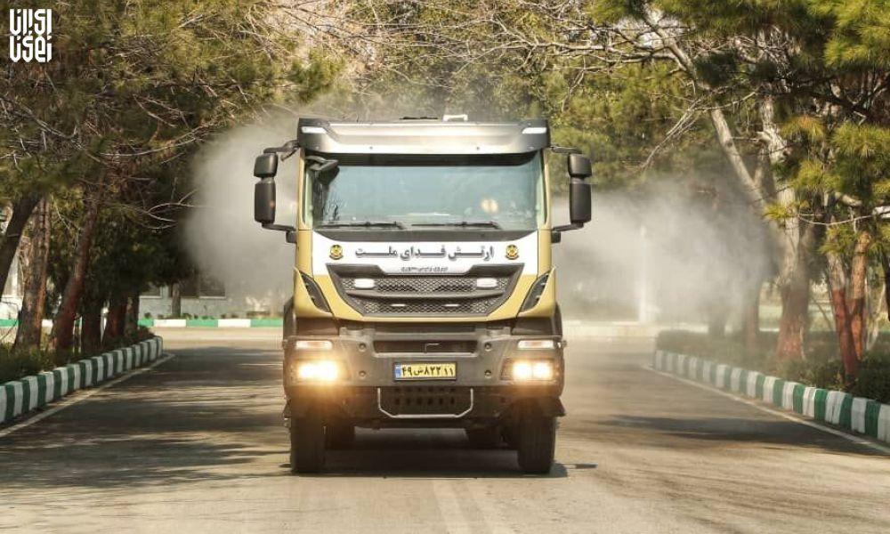 ارتش از خودروهای جدید ضدعفونی کننده رونمایی کرد
