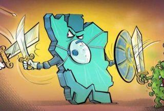 کاریکاتور معنی دار از درگیری ایران با کرونا