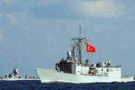 رزم ناو ترکیه مواضع ارتش ملی لیبی را هدف قرار داد