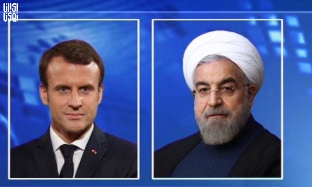 تماس تلفنی رئیس جمهور  با مکرون رئیس جمهور فرانسه
