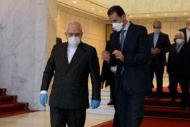 دیدار ظریف با بشار اسد رییس جمهور سوریه و ولید المعلم وزیر امور خارجه سوریه