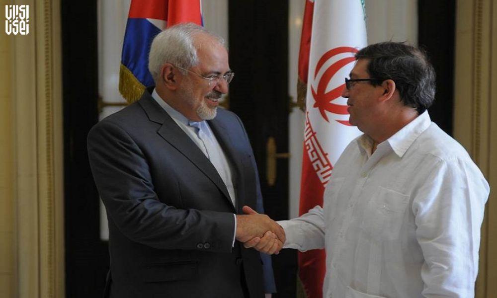 دیدار و گفتگوی محمد جواد ظریف و وزیر امور خارجه کوبا