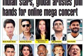همخوانی ستارگان هالیوود و بالیوود در مگا کنسرت آنلاین
