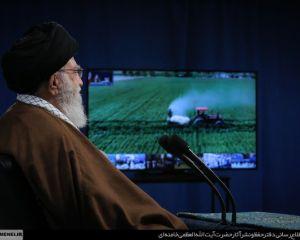 گزارش تصویری ارتباط تصویری رهبر انقلاب با هفت مجموعه تولیدی