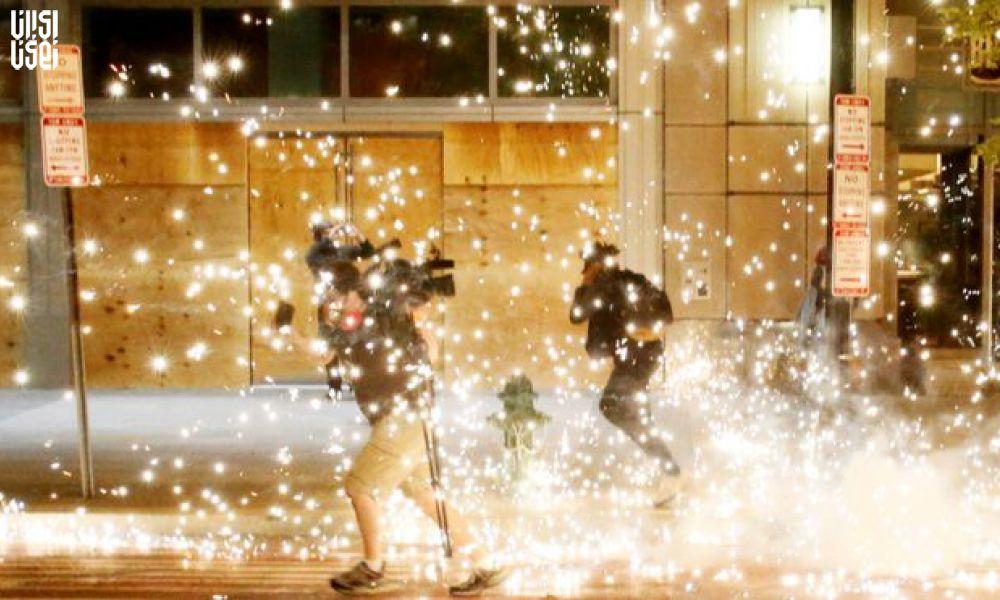 درگیری شدید پلیس و معترضان در نزدیکی کاخ سفید