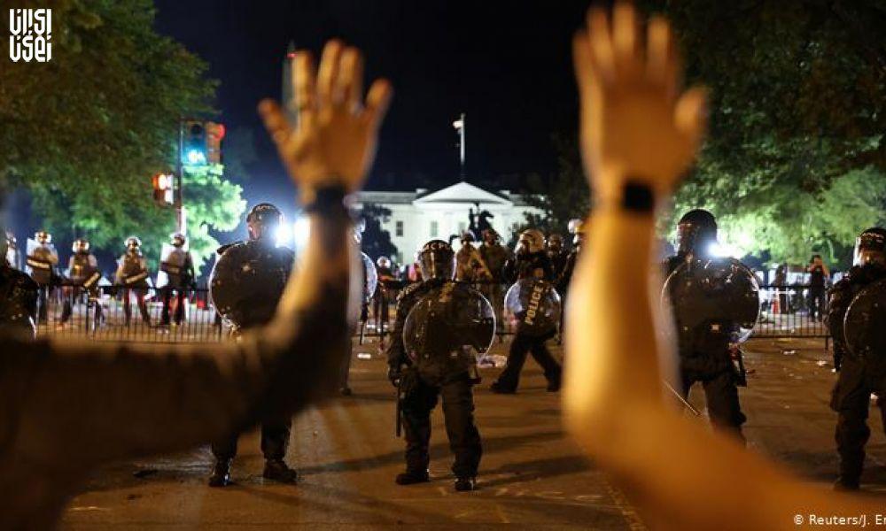 هفتمین شب پیاپی اعتراضات در آمریکا