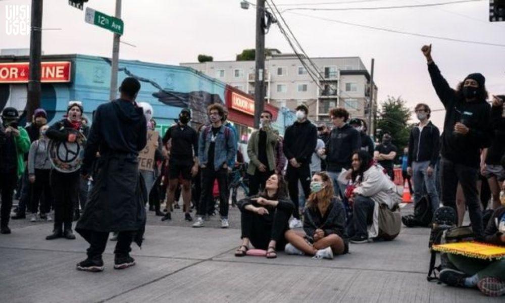 تشکیل منطقه خودمختار در سیاتل آمریکا توسط معترضان