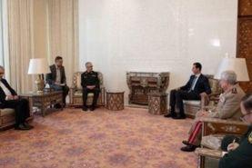 دیدار بشار اسد با سرلشکر باقری رئیس ستاد کل نیروهای مسلح ایران