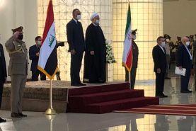 مراسم استقبال از نخست وزیر عراق با حضور رئیس جمهور برگزار شد