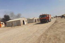 حمله موشکی به پایگاه نیرو های آمریکایی در بغداد و تخلیه پایگاه