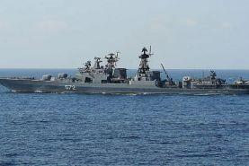روسیه یک کشتی آمریکایی را به دلیل نقض حریم دریایی این کشور متوقف کرد