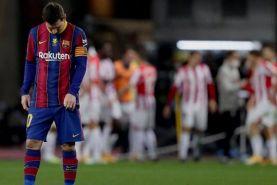 اخراج لیونل مسی با پیراهن بارسلونا پس از 15 سال!