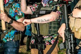 تجمع گروه شبهنظامی و مسلح بوگالو در ایالت اورگن آمریکا