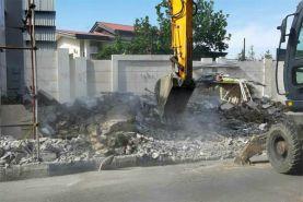 تخریب ویلای غیرمجاز دو مقام مسئول در فیروزکوه