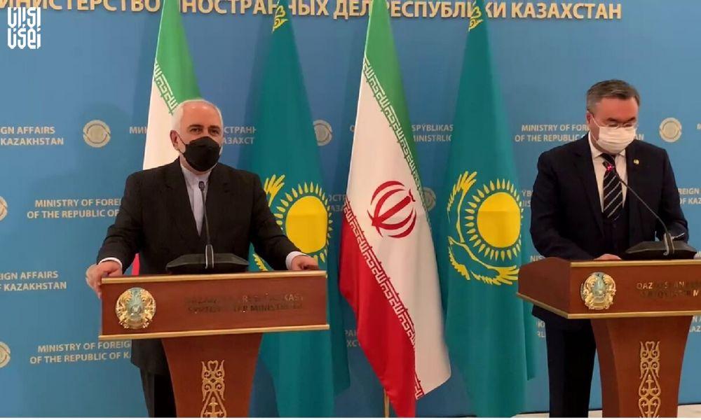 ظریف : مشترکات ایران و قزاقستان باعث پیوند ما شده است