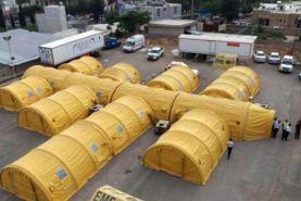 ارتش بیمارستان صحرایی ویژه کرونا در قزوین راهاندازی کرد