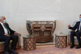رئیس الحشد الشعبی با بشار اسد دیدار کرد