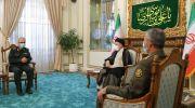دیدار هیئت نیروهای مسلح با رئیس جمهور منتخب