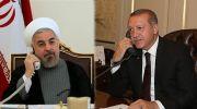 روحانی در گفتگو با اردوغان ؛ ایران و ترکیه قدرت های بزرگ جهان اسلام هستند