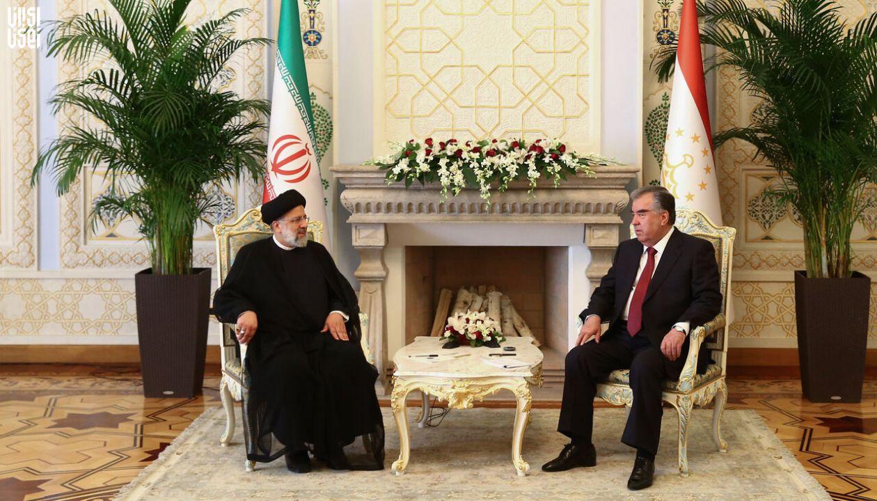دیدار سید ابراهیم رئیسی و امامعلی رحمان رئیس جمهور تاجیکستان
