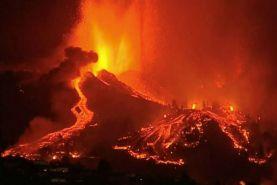 فوران آتشفشان جزیره لاپالما در جزایر قناری