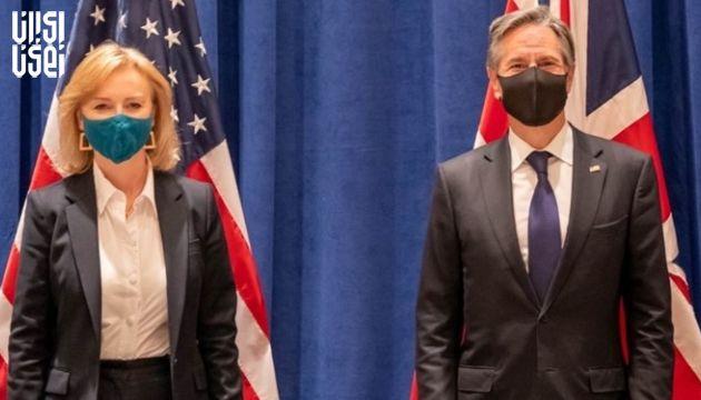 دیدار وزرای خارجه ایالات متحده و انگلیس در نیویورک