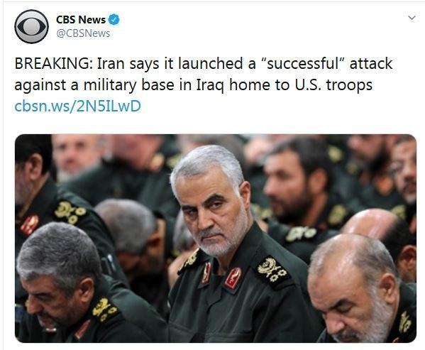 حمله موشکی ایران به پایگاه عین الأسد